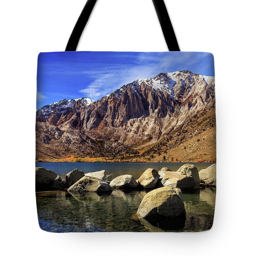 Landscape Tote Bag featuring the photograph Convict Lake by James Eddy