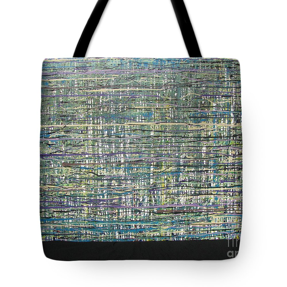 Tote Bag featuring the painting Convoluted by Jacqueline Athmann
