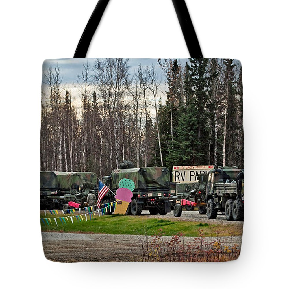 Convoy Tote Bag featuring the photograph Convoy by Cathy Mahnke