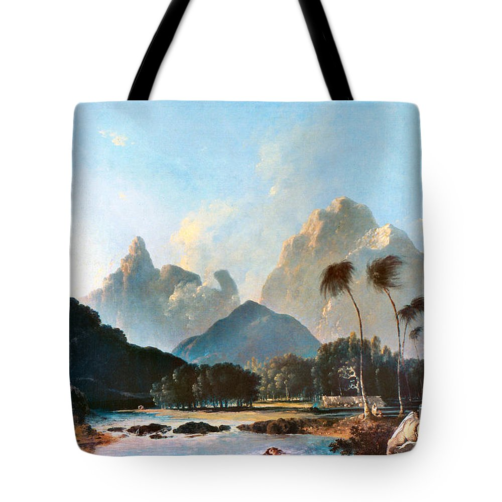 1773 Tote Bag featuring the painting Cook: Tahiti, 1773 by Granger