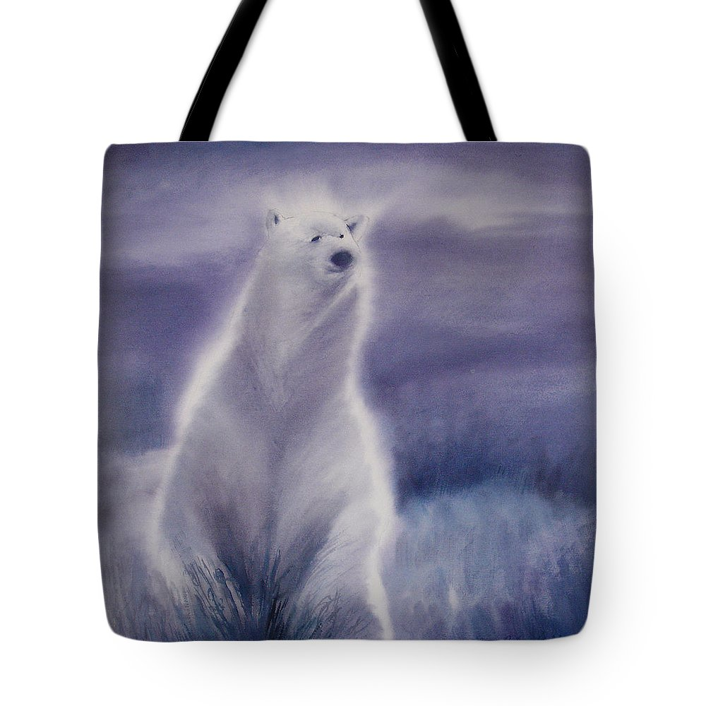Bear Tote Bag featuring the painting Cool Bear by Allison Ashton