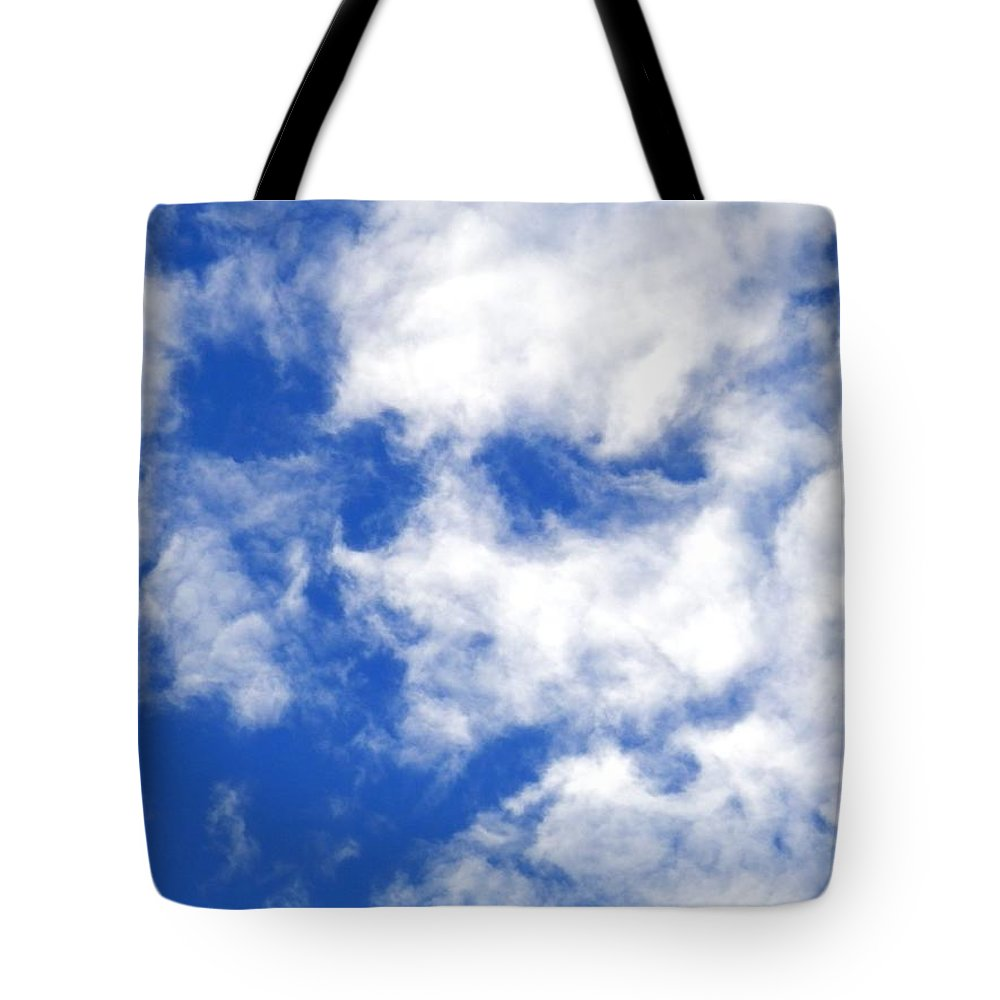 #face #blue Sky #white #clouds #port #richey #florida #august #sunglasses?? Tote Bag featuring the photograph Cool Face In The Blue Sky by Belinda Lee