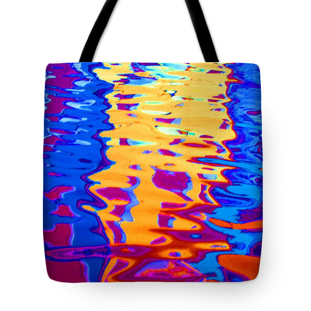 Abstract Tote Bag featuring the pastel Cool Meets Warm by Donna Corless