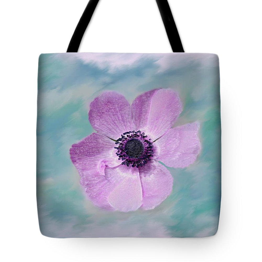 Flowers Floral Macro Nature Gardens Pink Purple Blue Green White Petals Spring Flowers Tote Bag featuring the photograph Cool Spring by Linda Sannuti
