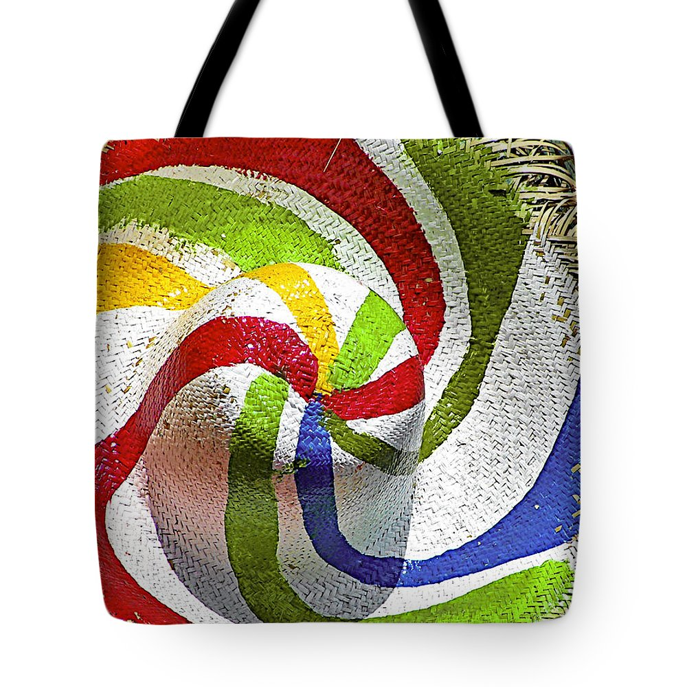 Straw Tote Bag featuring the photograph Cool Summer Hat by Christine Till