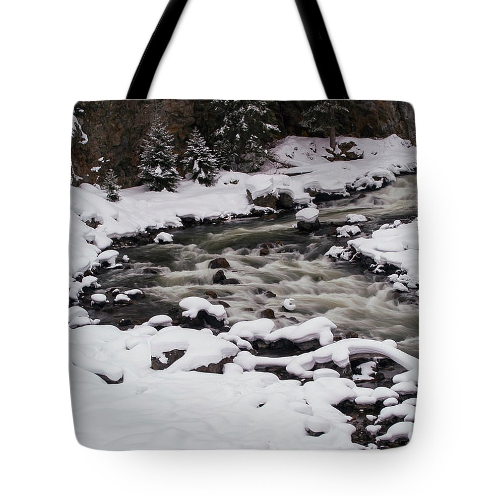 Yellowstone National Park Tote Bag featuring the photograph Cool Winding River by Bob Phillips