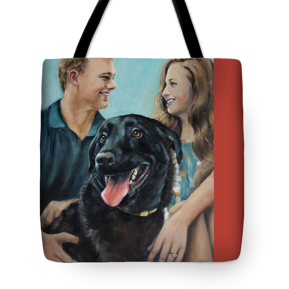 Scotty Tote Bag featuring the painting Cooper The Scottie by Julie Dalton Gourgues