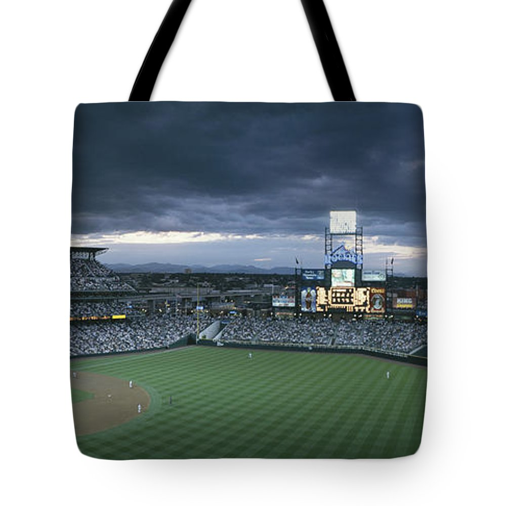 North America Tote Bag featuring the photograph Coors Field, Denver, Colorado by Michael S. Lewis