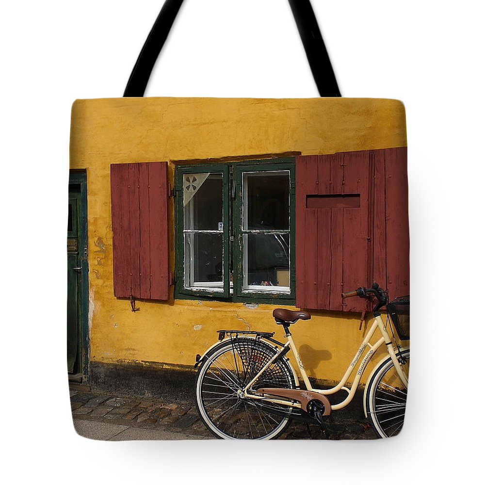 Bike Tote Bag featuring the photograph Copenhagen Still Life by Sabine Meisel