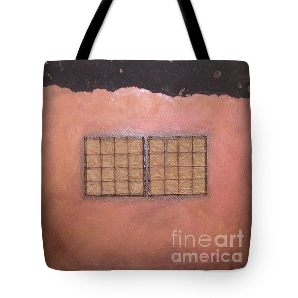 Sets Tote Bag featuring the mixed media Copper Clad Series Number Two by Marlene Burns