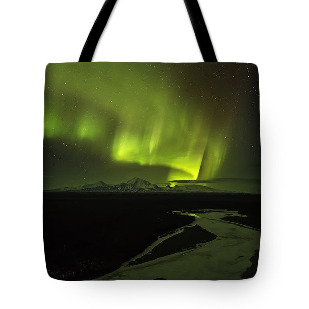 Alaska Tote Bag featuring the photograph Copper Ribbon by Ed Boudreau