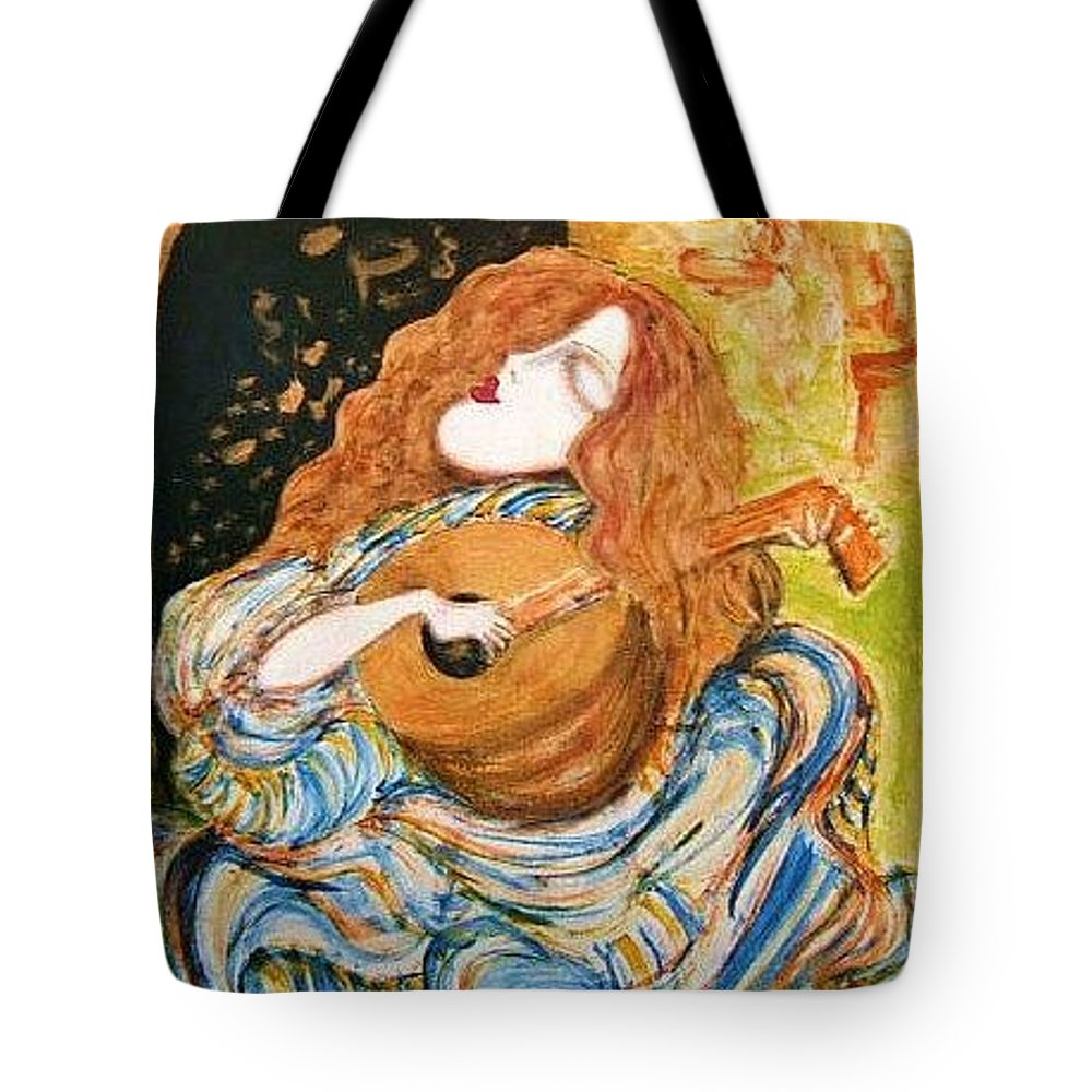 Painting Tote Bag featuring the painting Coppertones by Rae Chichilnitsky