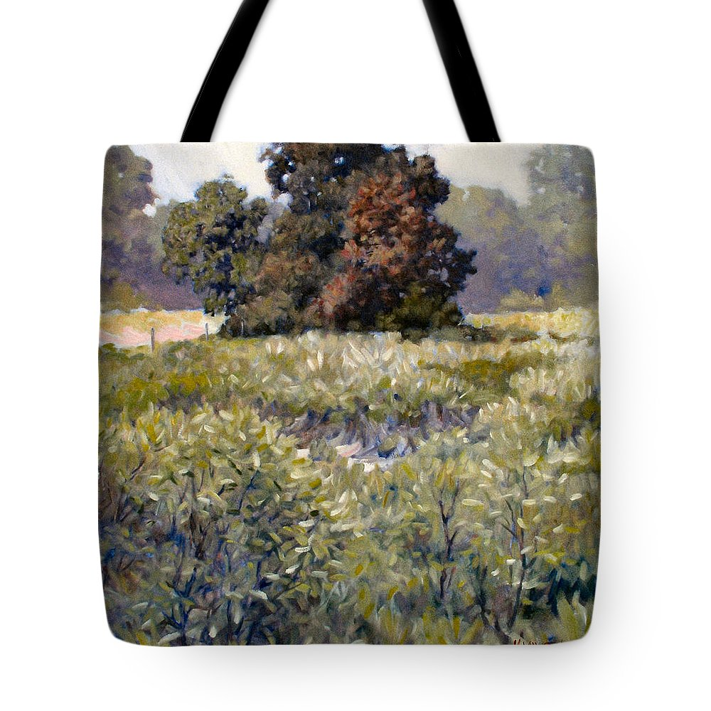 Landscape Tote Bag featuring the painting Copse by Kevin Lawrence Leveque