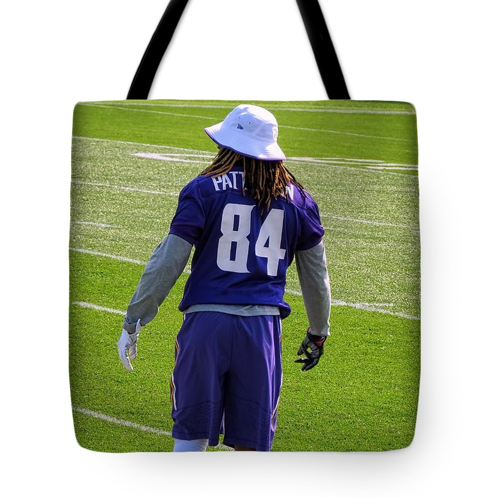 Nfl Tote Bag featuring the photograph Cordarrelle Patterson by Kyle West
