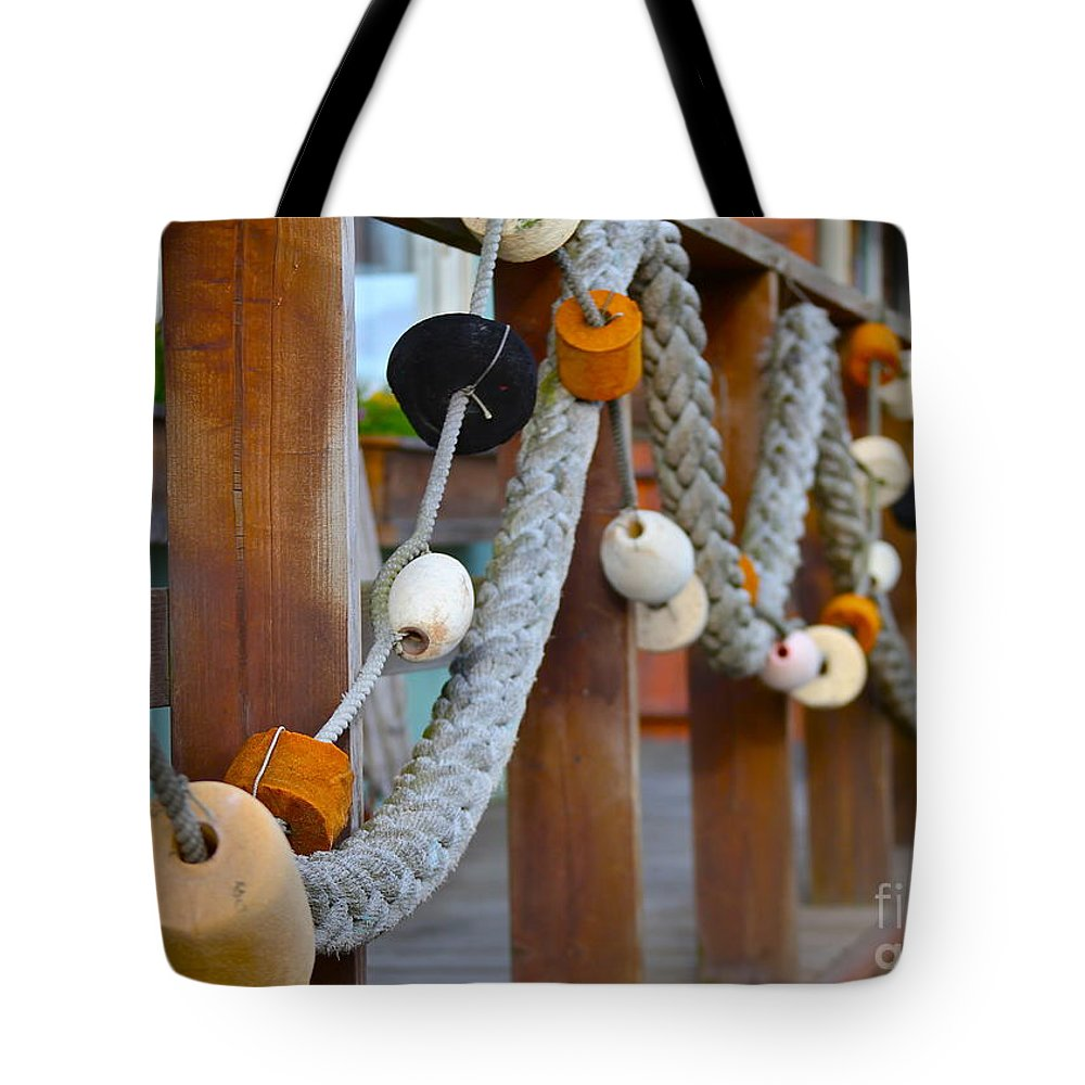 Rope Tote Bag featuring the photograph Corks by Rick Monyahan