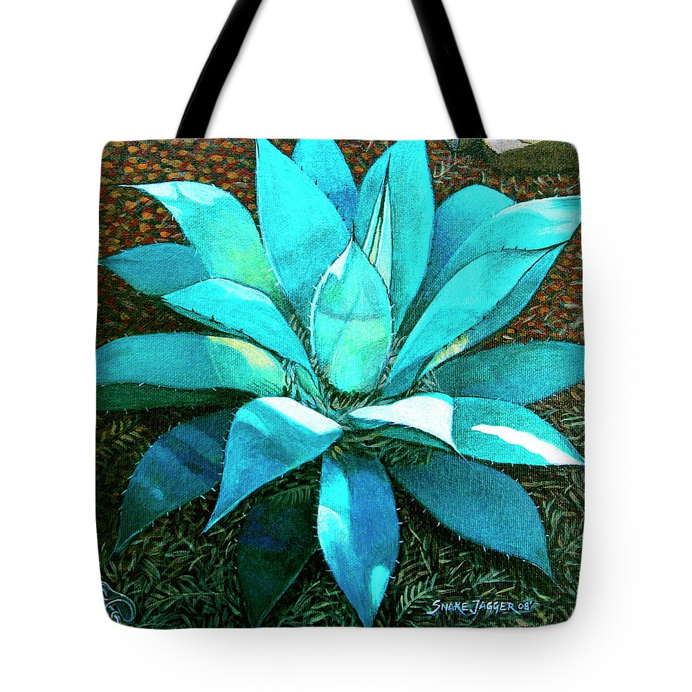 Cactus Tote Bag featuring the painting Corkscrew by Snake Jagger
