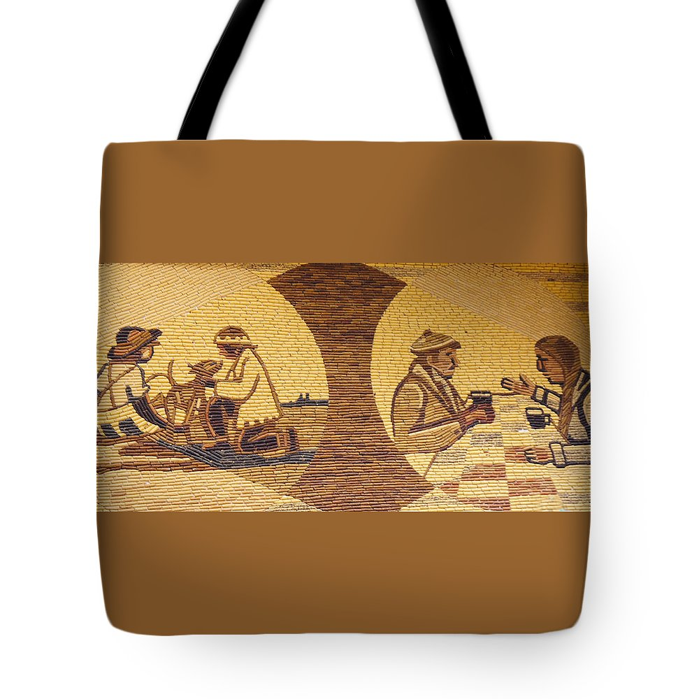 Design Tote Bag featuring the photograph Corn Art At Corn Palace 05 by Art Spectrum