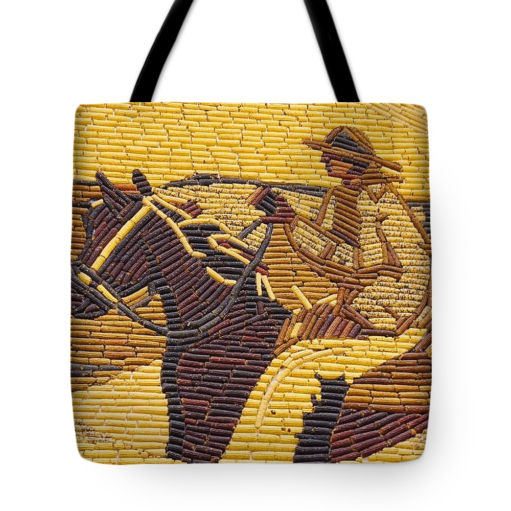 Design Tote Bag featuring the photograph Corn Art At Corn Palace 01 by Art Spectrum