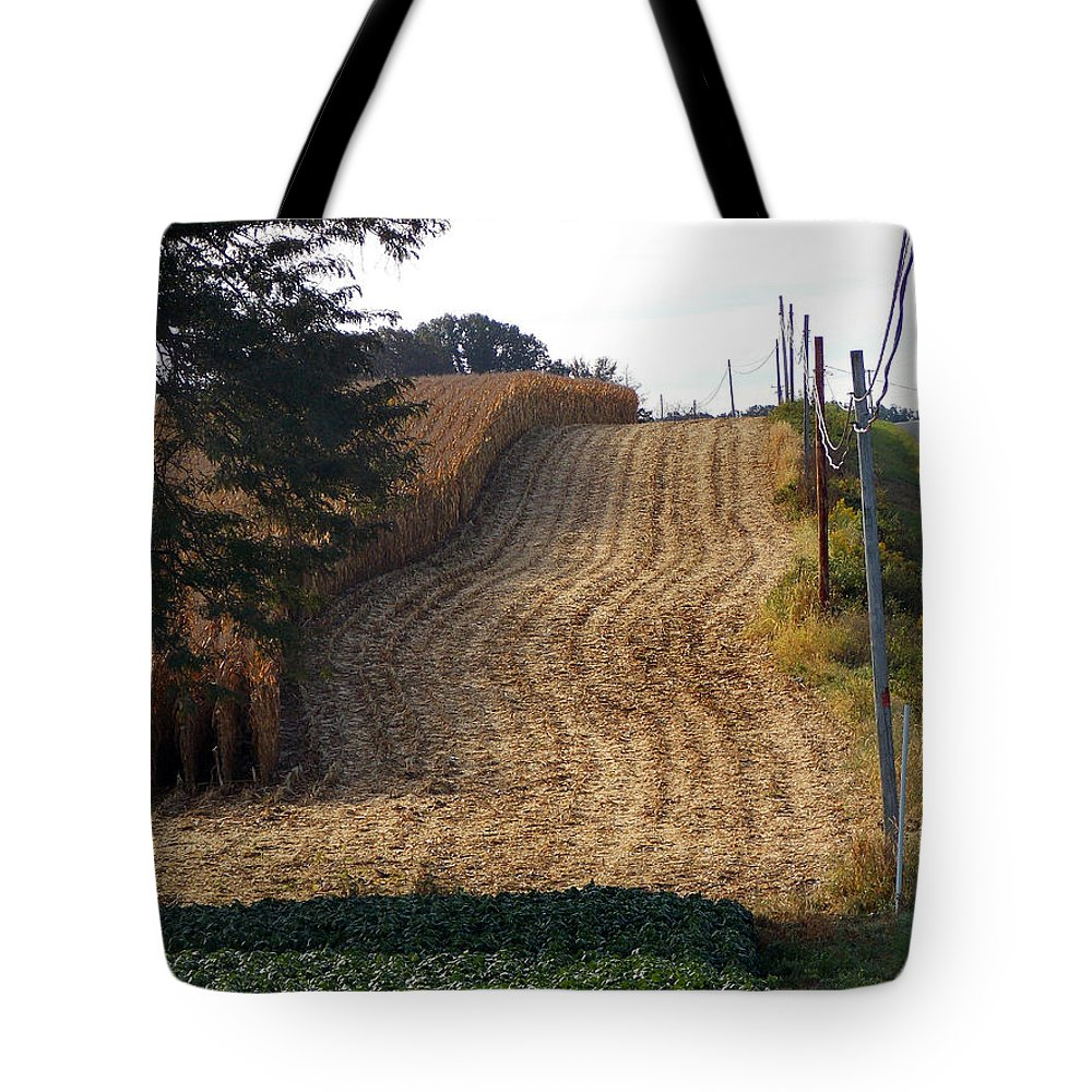 Scenic Tours Tote Bag featuring the photograph Corn Harvest by Skip Willits