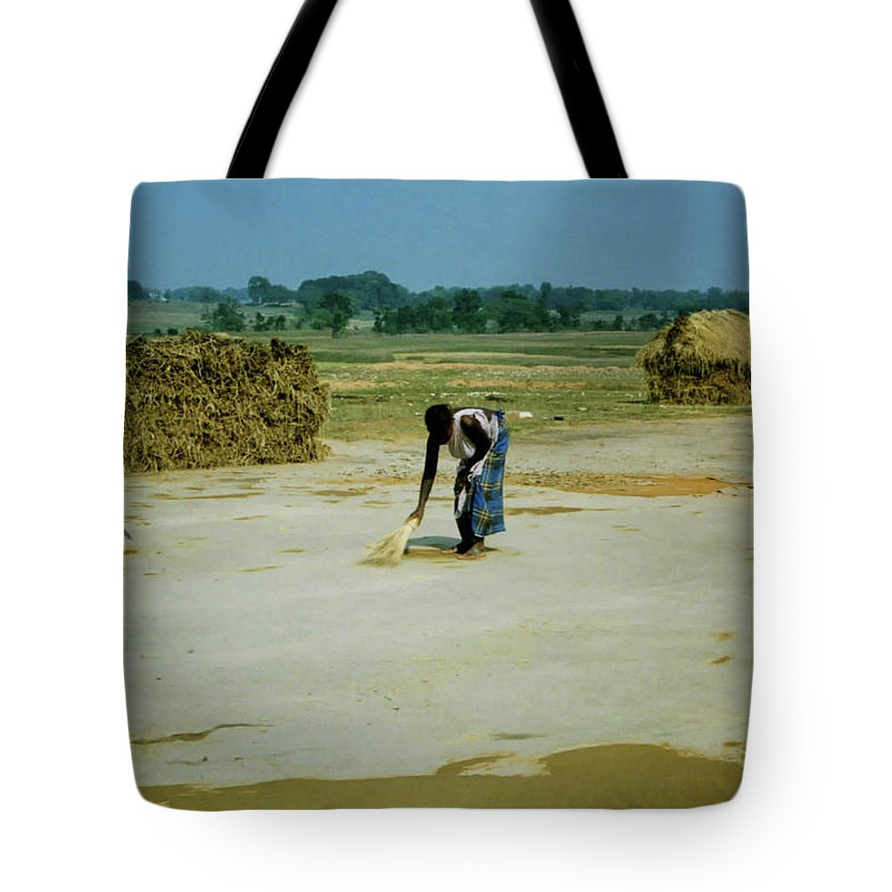 Corn Tote Bag featuring the photograph Corn Processing by Ujjwal Rout