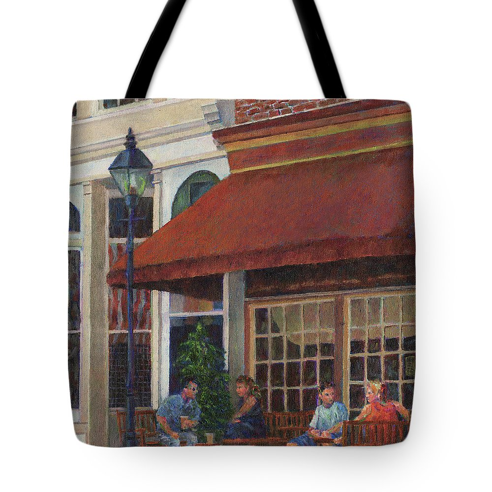 Restaurant Tote Bag featuring the photograph Corner Restaurant by Susan Savad