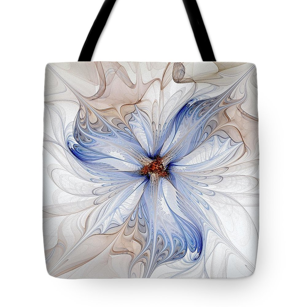 Digital Art Tote Bag featuring the digital art Cornflower Blues by Amanda Moore