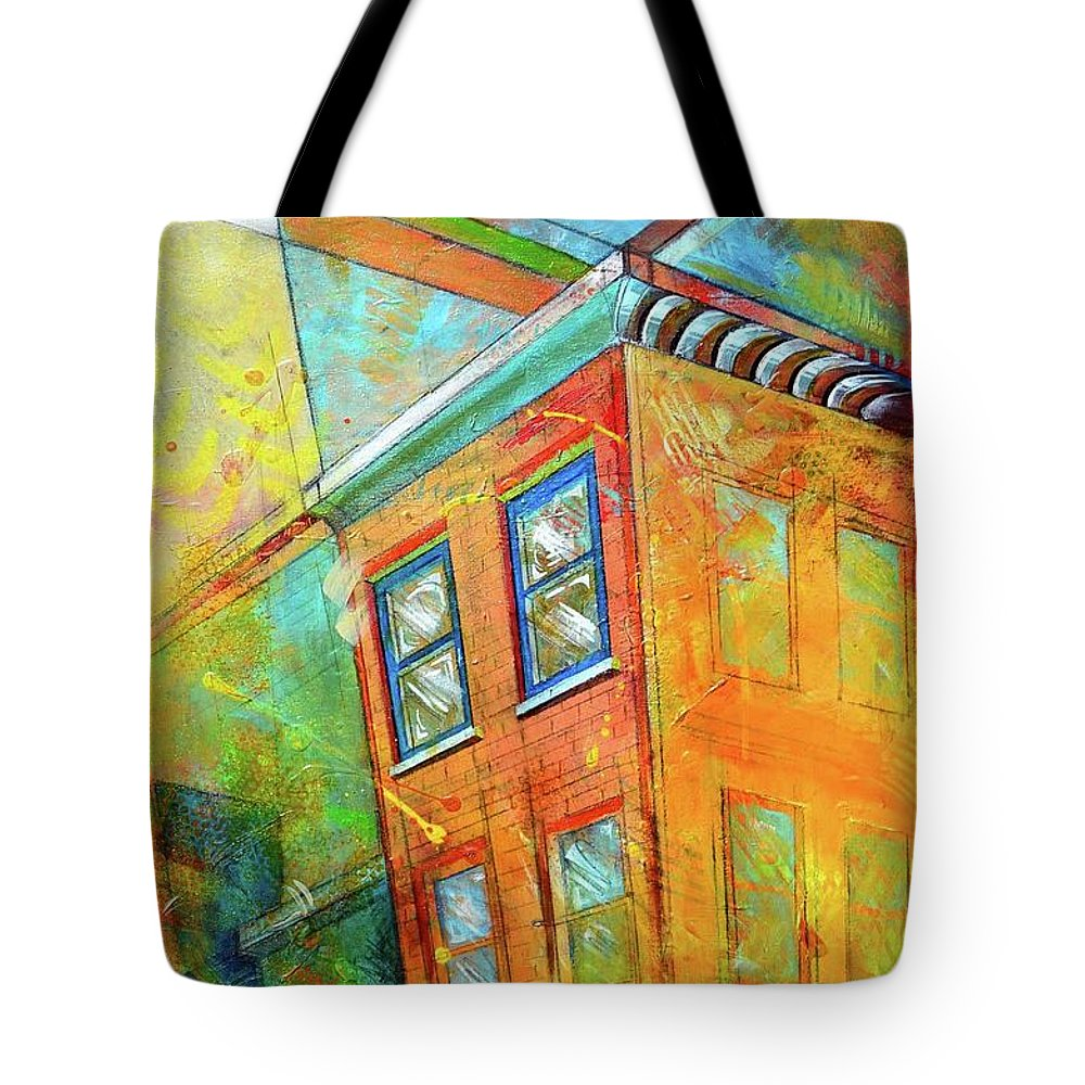 Building Tote Bag featuring the painting Cornice by Christopher Triner