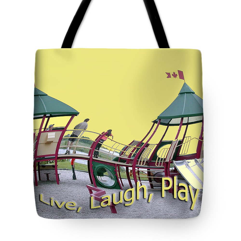 Playground Tote Bag featuring the photograph Cornwall Play by Jacqueline Milner