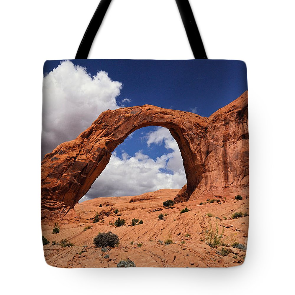 Corona Arch Tote Bag featuring the photograph Corona Arch by Franco Valentini