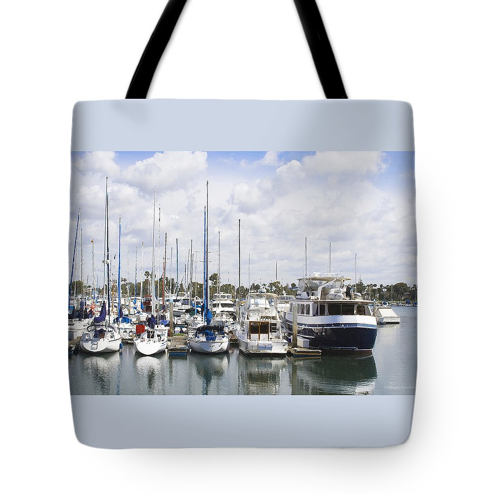 Coronado Tote Bag featuring the photograph Coronado Boats II by Margie Wildblood