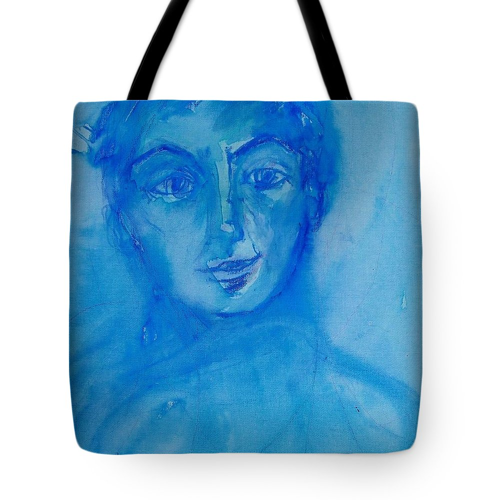 Abstract Tote Bag featuring the painting Corporate Mom by Judith Redman