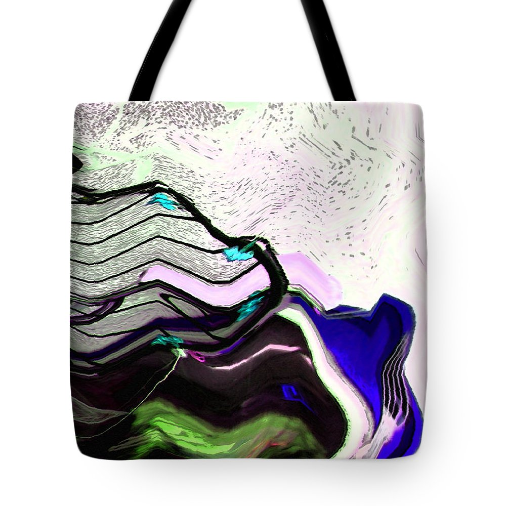 Abstract Tote Bag featuring the digital art Corral For Unicorns by Lenore Senior