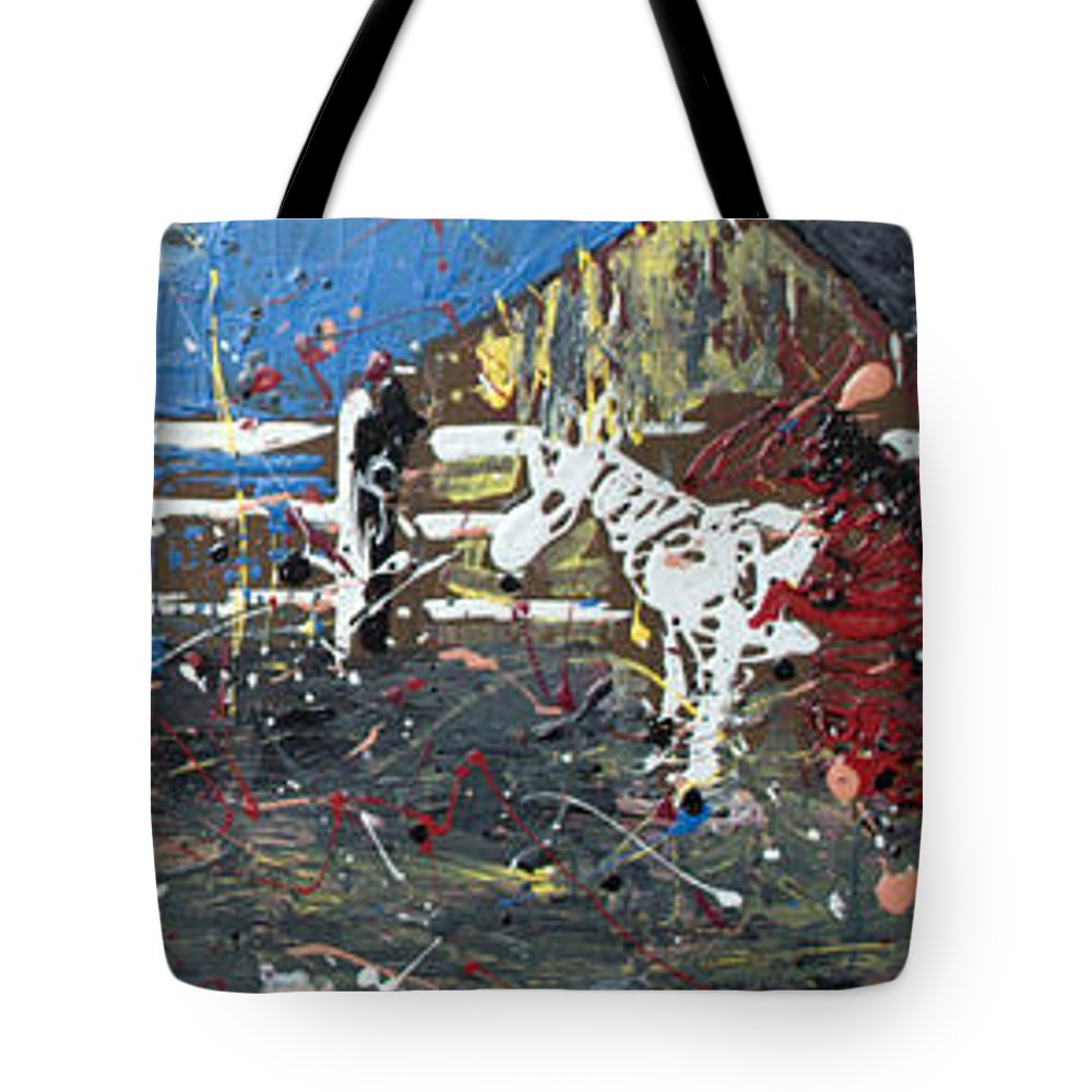 Impressionist Art Tote Bag featuring the painting Corralled by J R Seymour