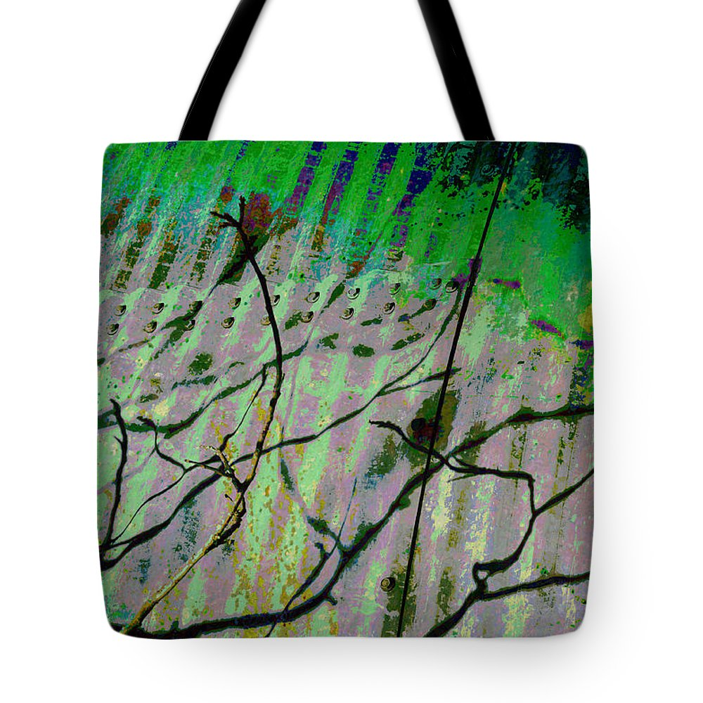 Abstracts Tote Bag featuring the photograph Corregated Shadows by Jan Amiss Photography