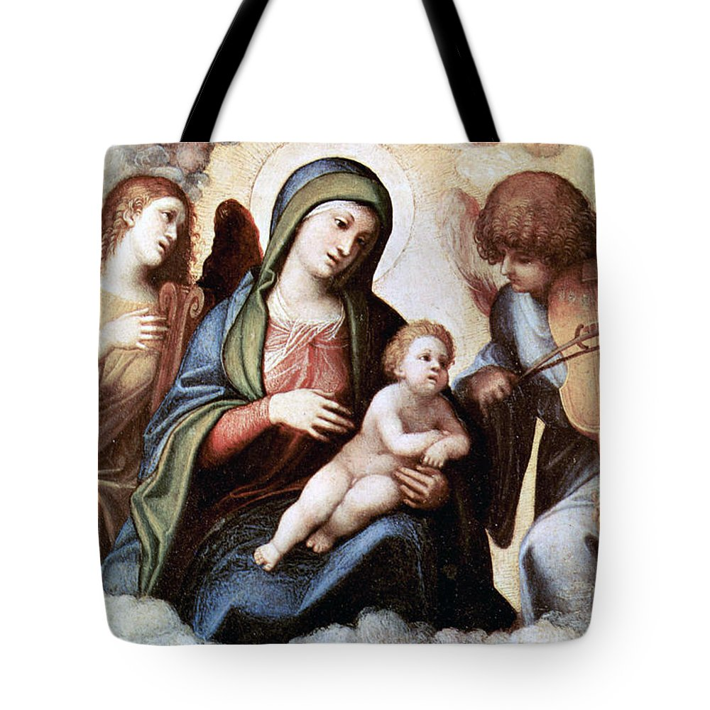 Correggio Tote Bag featuring the photograph Correggio Painting by Munir Alawi