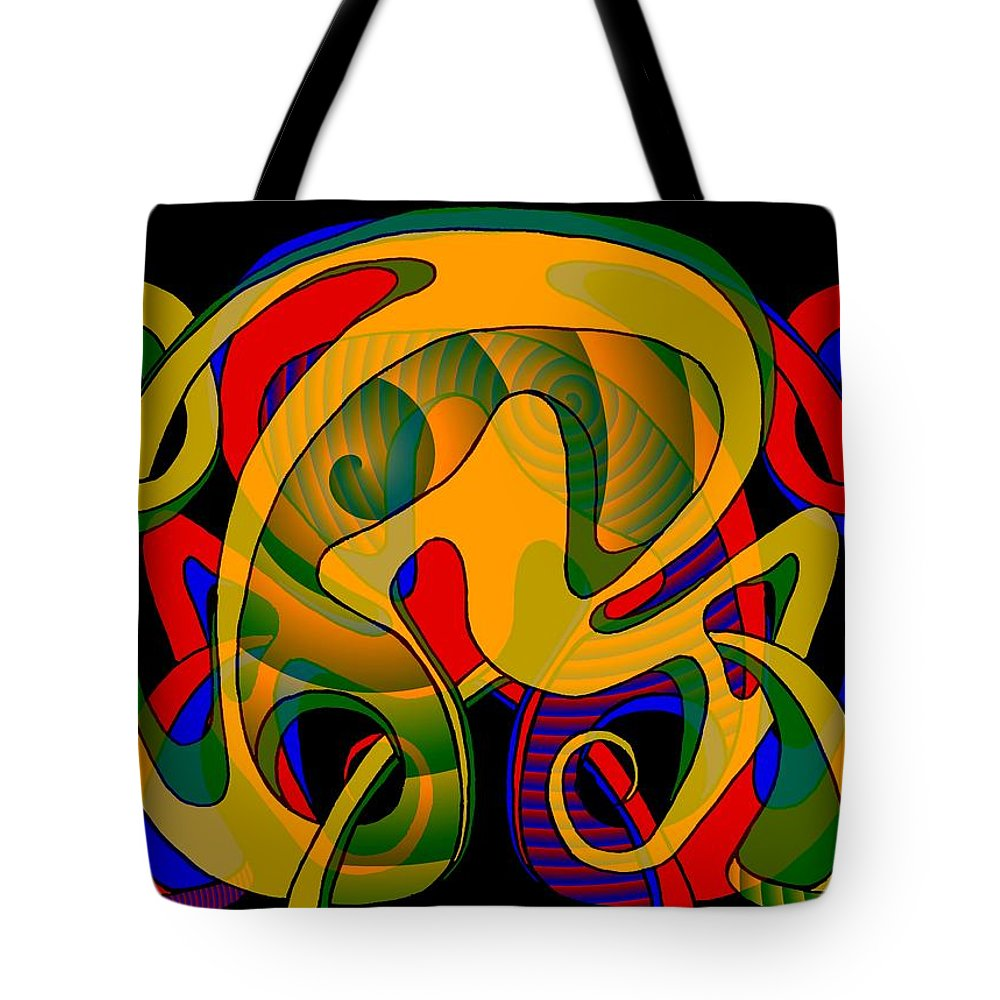 Life Tote Bag featuring the digital art Corresponding independent Lifes by Helmut Rottler