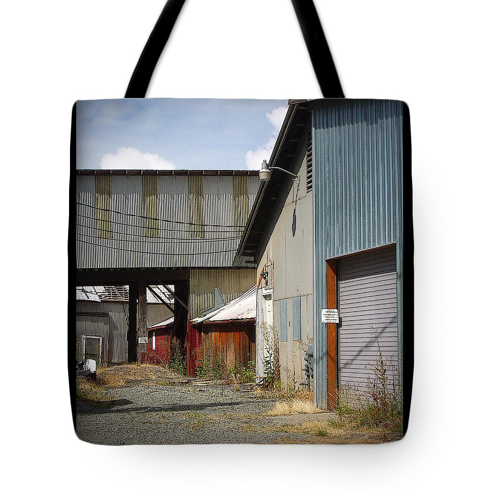 Corrugated Tote Bag featuring the photograph Corrugated by Tim Nyberg