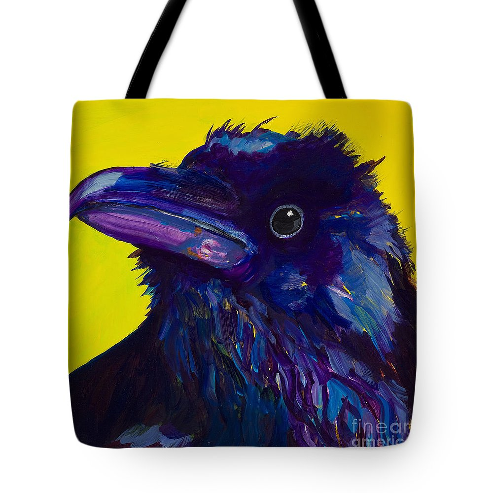 Bird Tote Bag featuring the painting Corvus by Pat Saunders-White