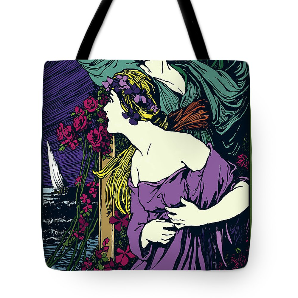 Mozart Tote Bag featuring the digital art Cosi Fan Tutte Opera by Joe Barsin