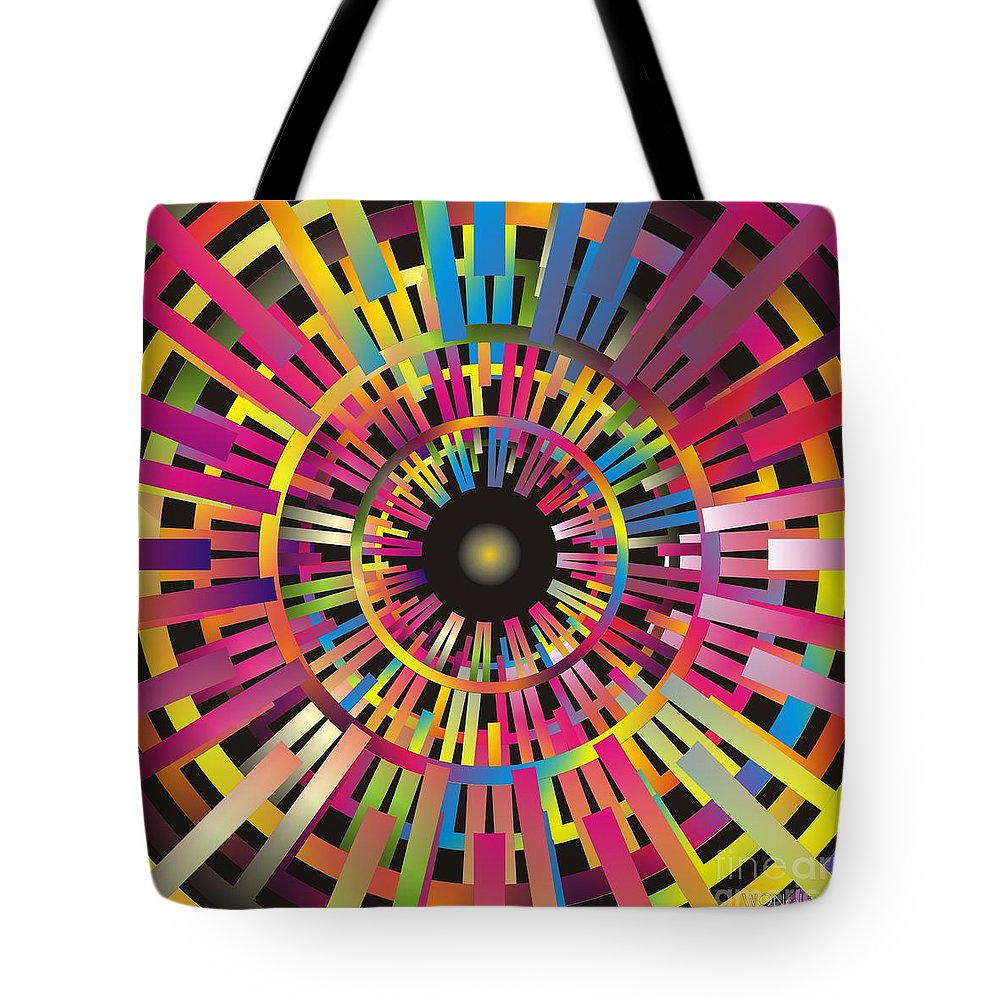 Cosmos Tote Bag featuring the digital art Cosmic Calibrator by Walter Oliver Neal