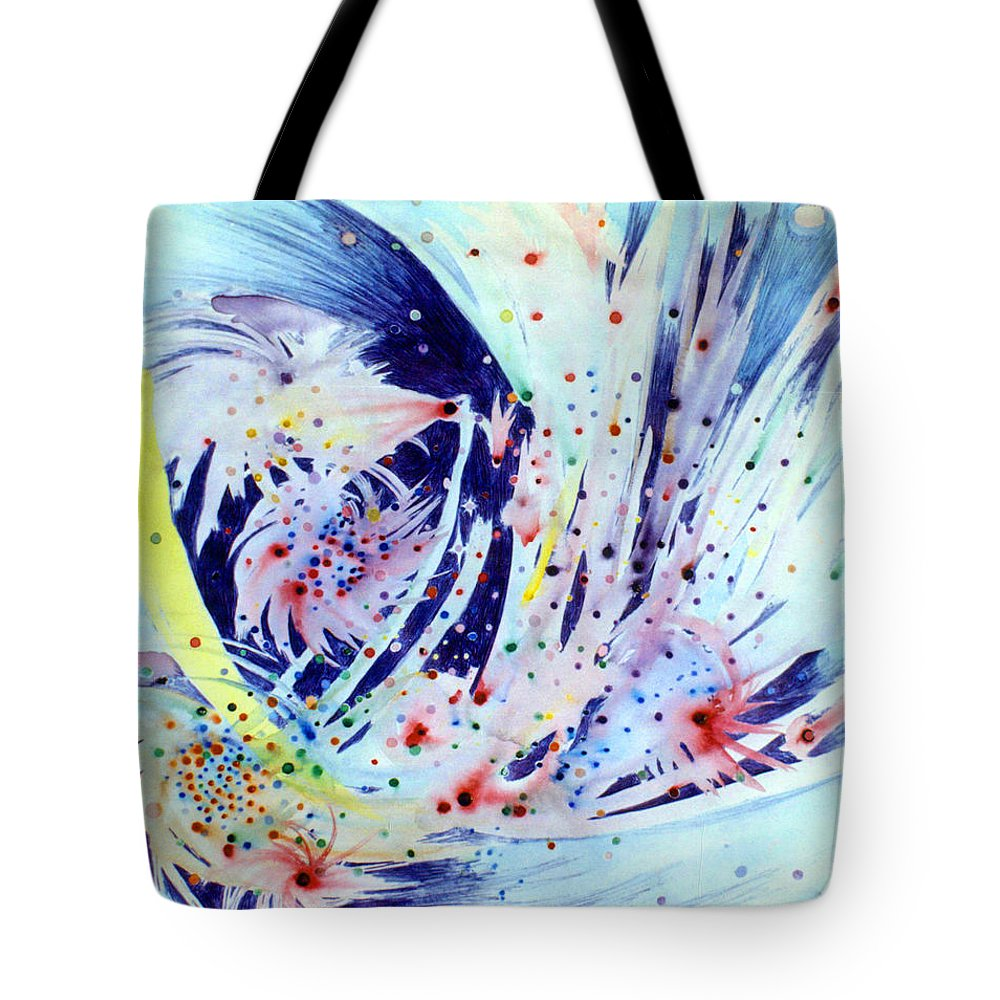 Abstract Tote Bag featuring the painting Cosmic Candy by Steve Karol