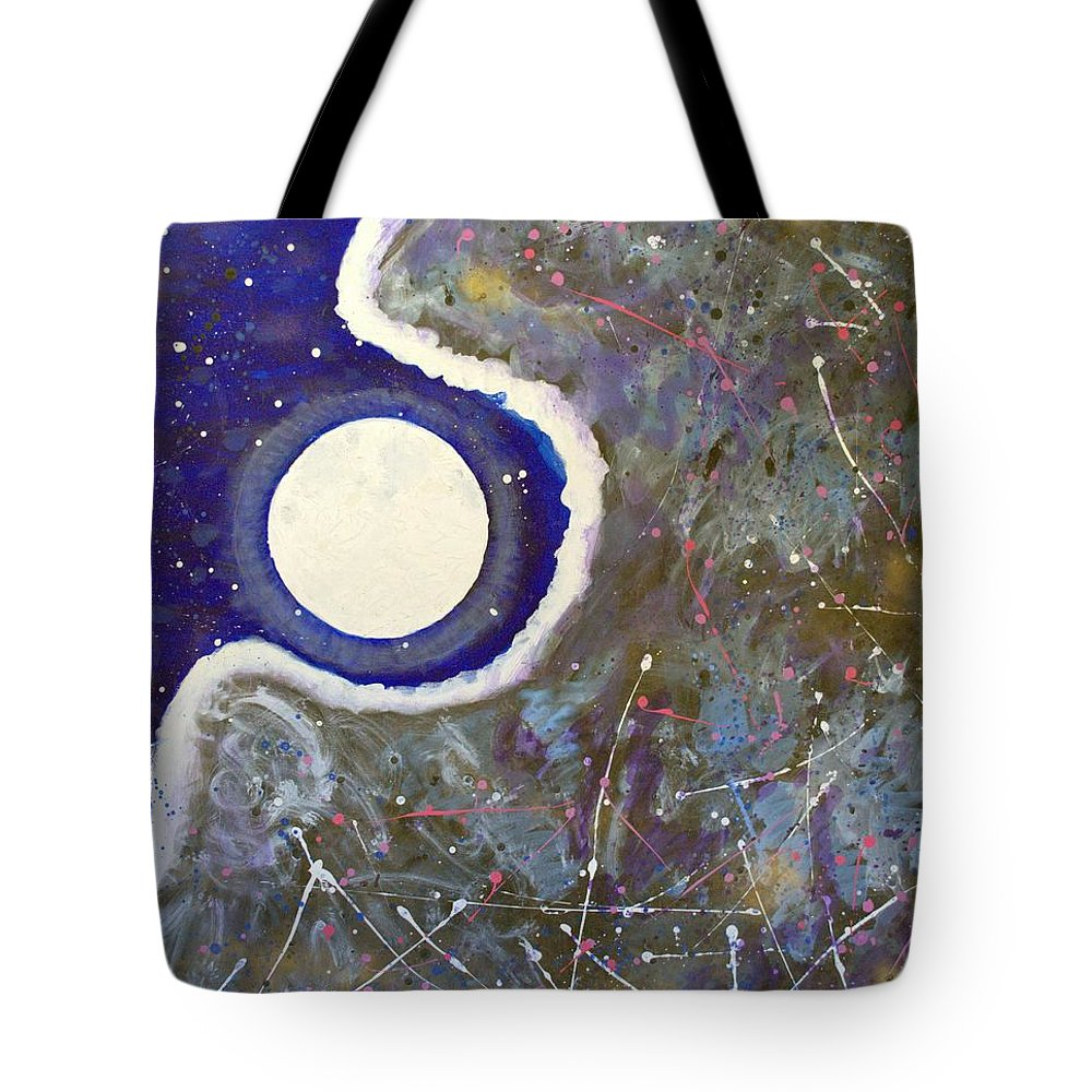 Impressionist Painting Tote Bag featuring the painting Cosmic Dust by J R Seymour