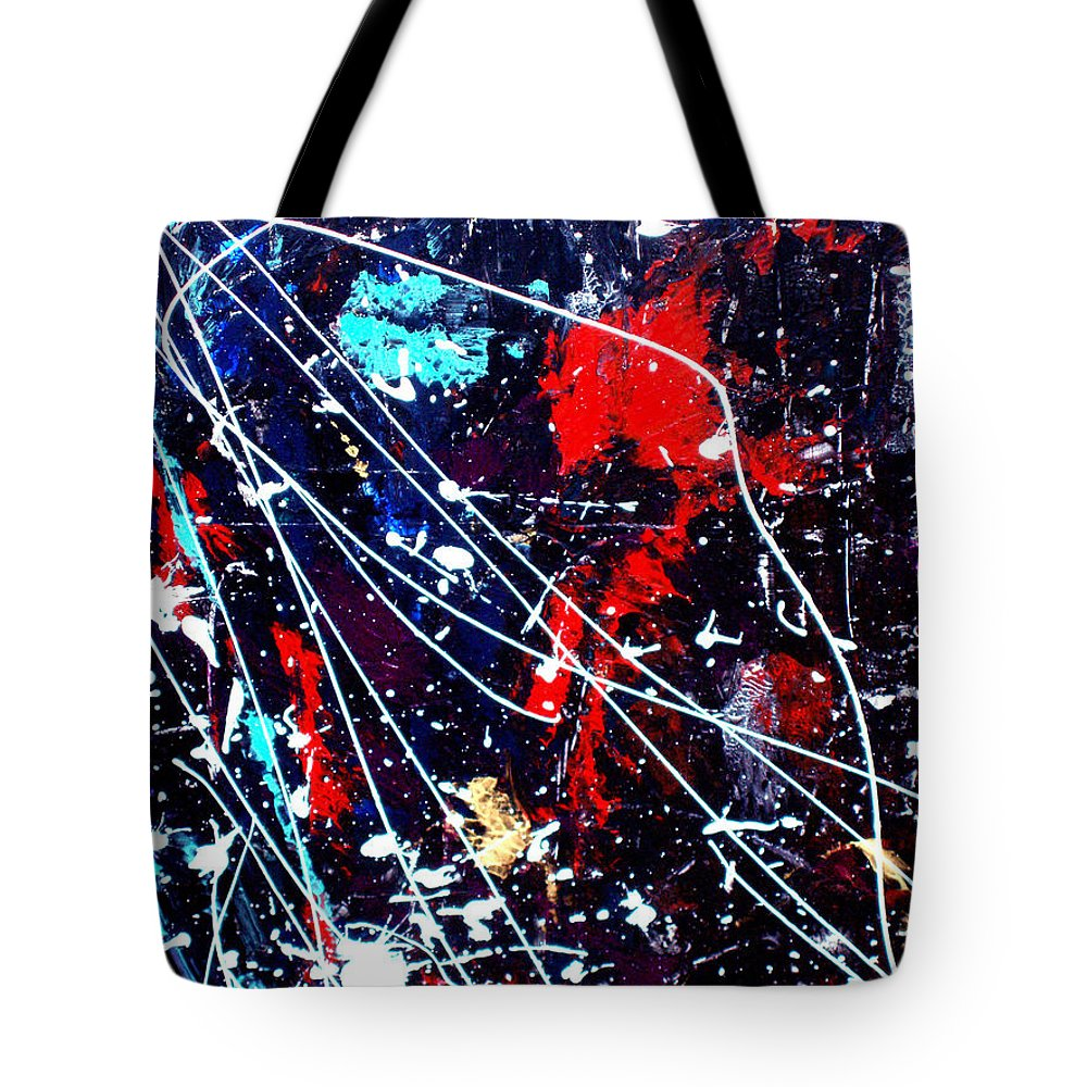 Cosmic Tote Bag featuring the painting Cosmic Journey by Wayne Potrafka