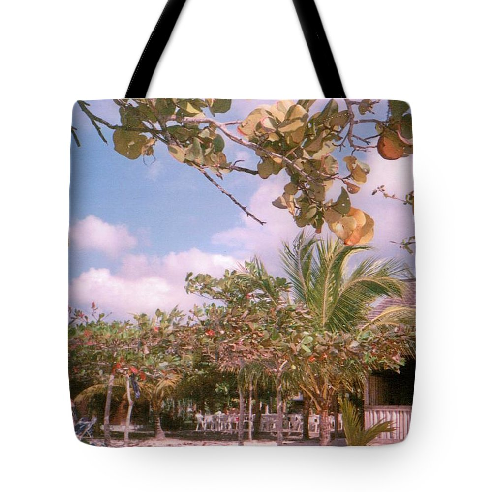 Jamaica Tote Bag featuring the photograph Cosmos At Negril by Debbie Levene