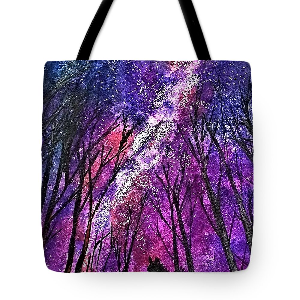 Magical Tote Bag featuring the painting Cosmos by Deboshree Chatterjee