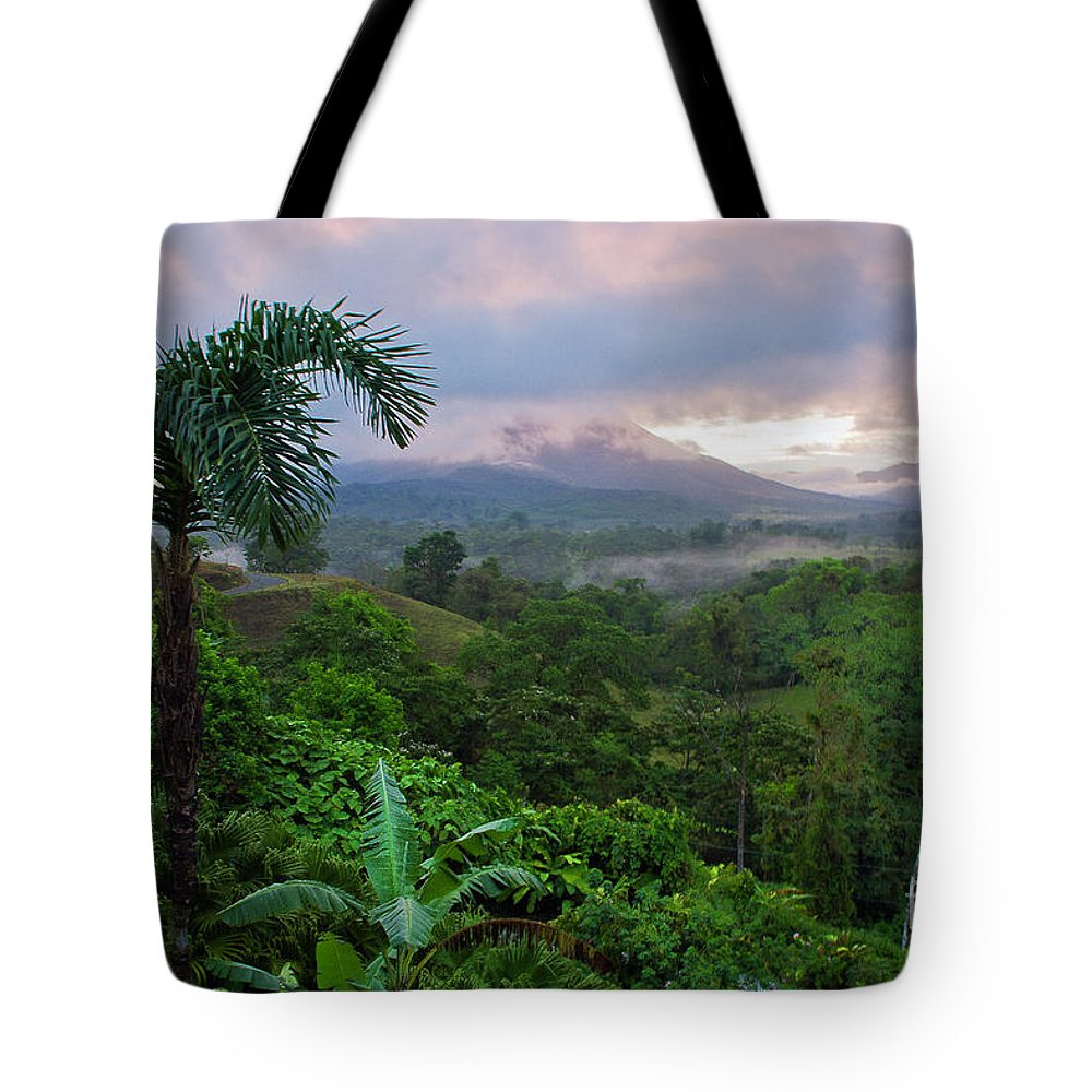 Costa Rica Tote Bag featuring the photograph Costa Rica Volcano View by Madeline Ellis