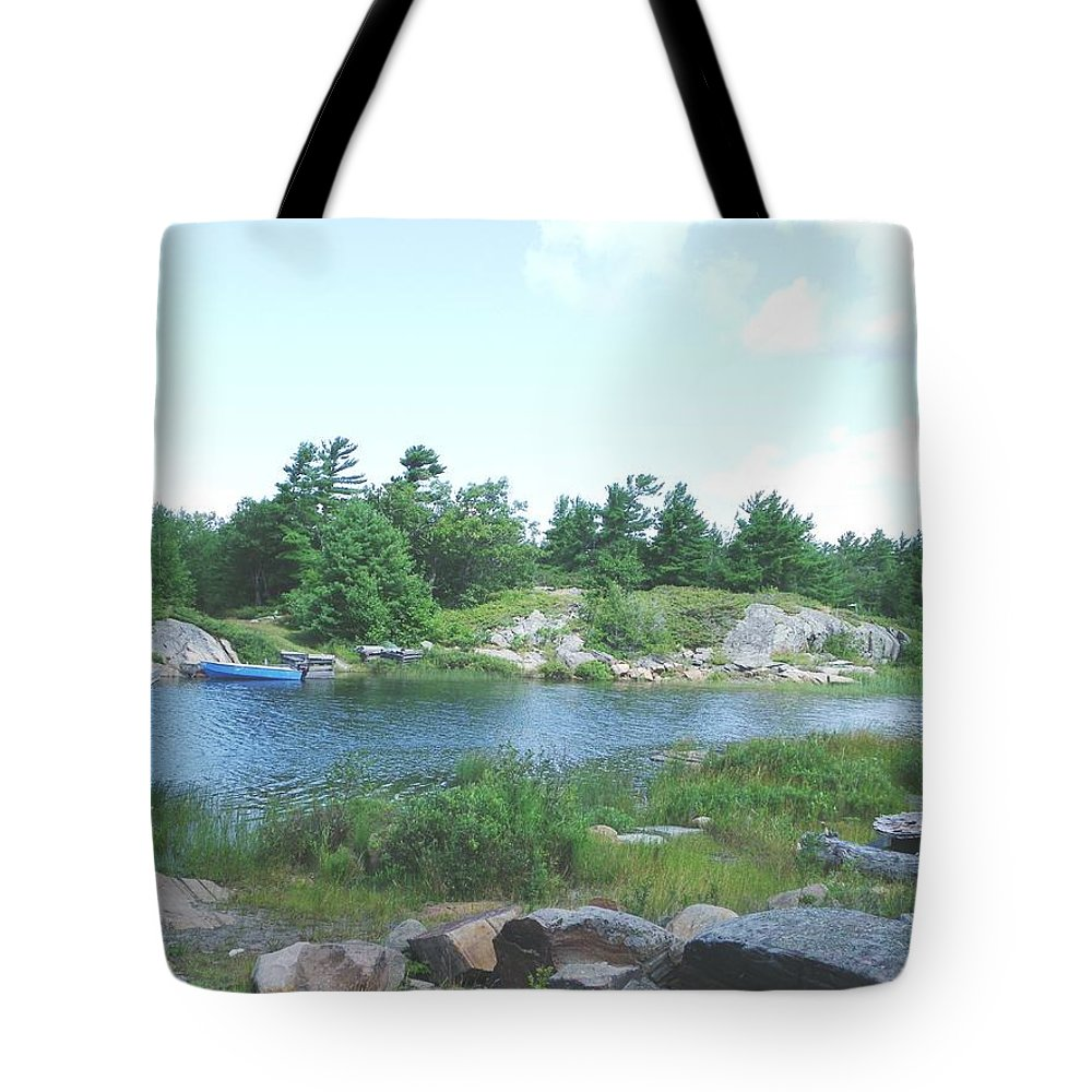 Bay Tote Bag featuring the photograph Cottage Country by Peggy King