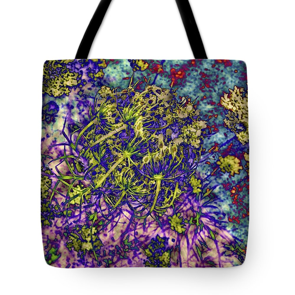 Abstract Tote Bag featuring the photograph Cottage Garden Series 18 by Elizabeth Tillar