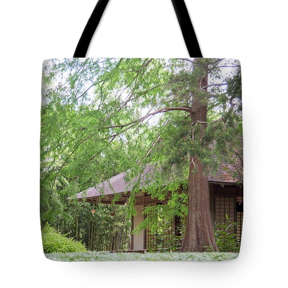 Landscape Tote Bag featuring the photograph Cottage Orange Island Louisiana by Chuck Kuhn