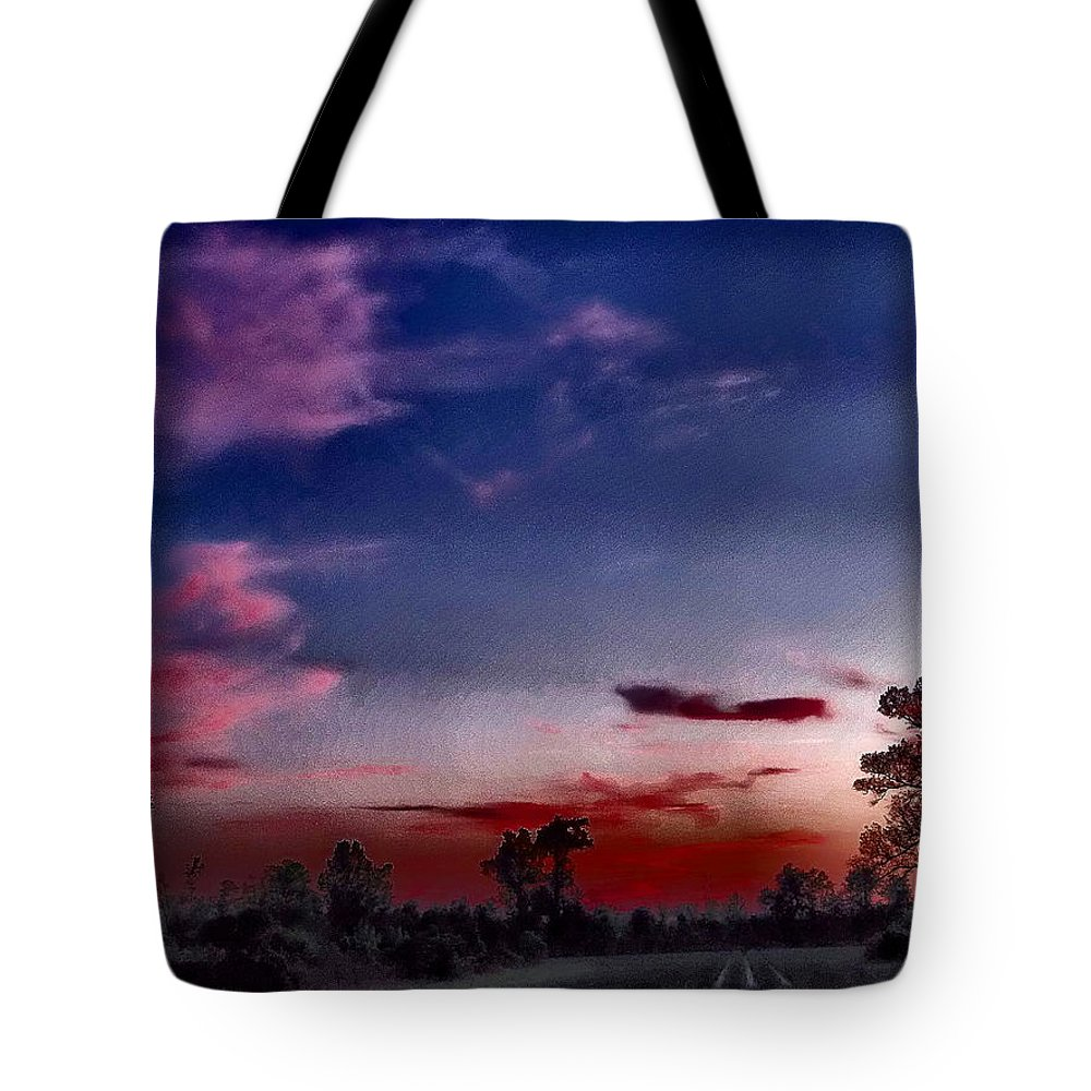 Dreamy Tote Bag featuring the photograph Cotton Candy Sky by Gina Welch